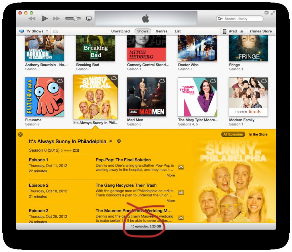 iTunes Status Bar
