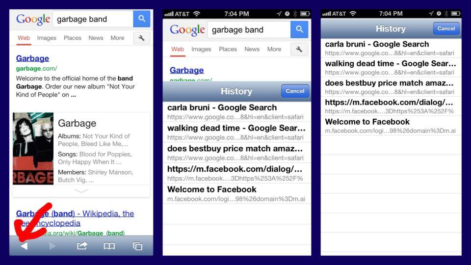 Safari iOS history