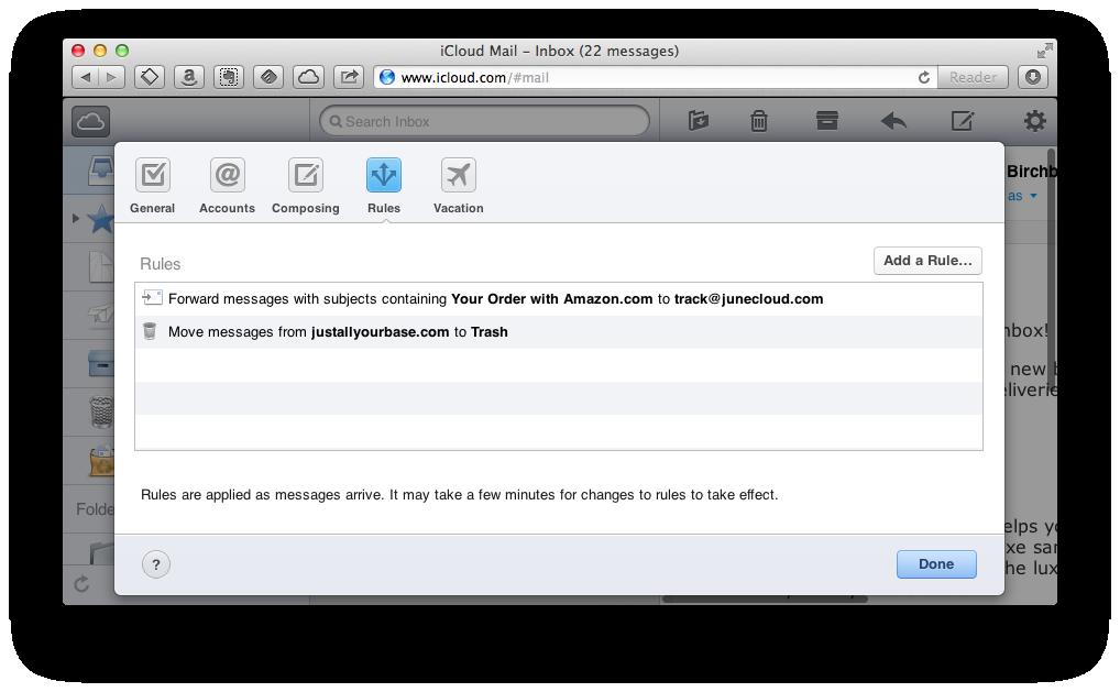Server side message filtering