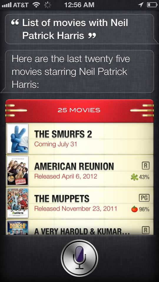 Look up movie information with Siri