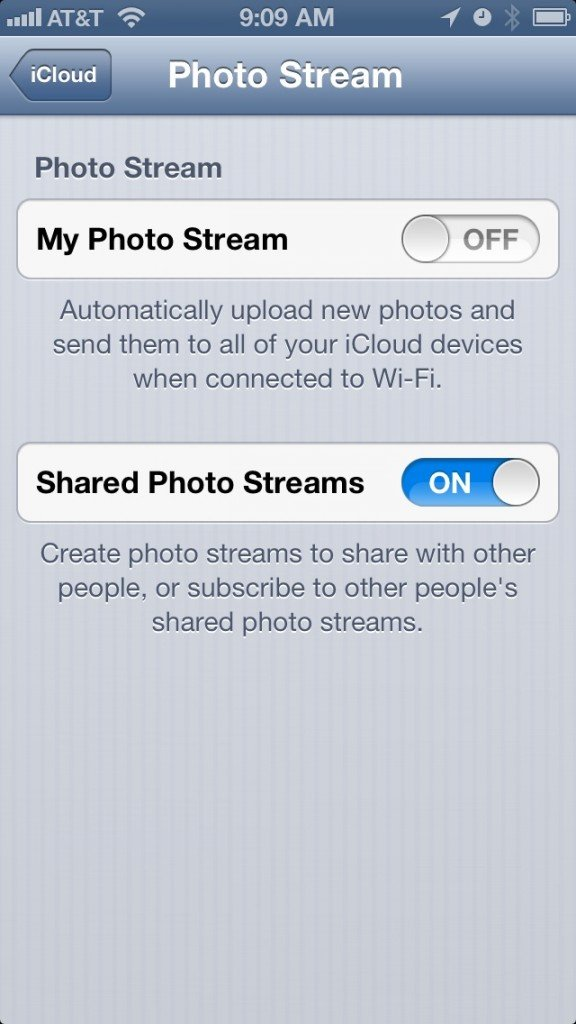 Should I enable Photo Stream?
