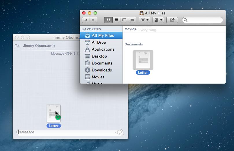 Send Documents via iMessages