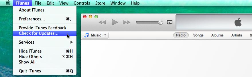 iTunes Software Update