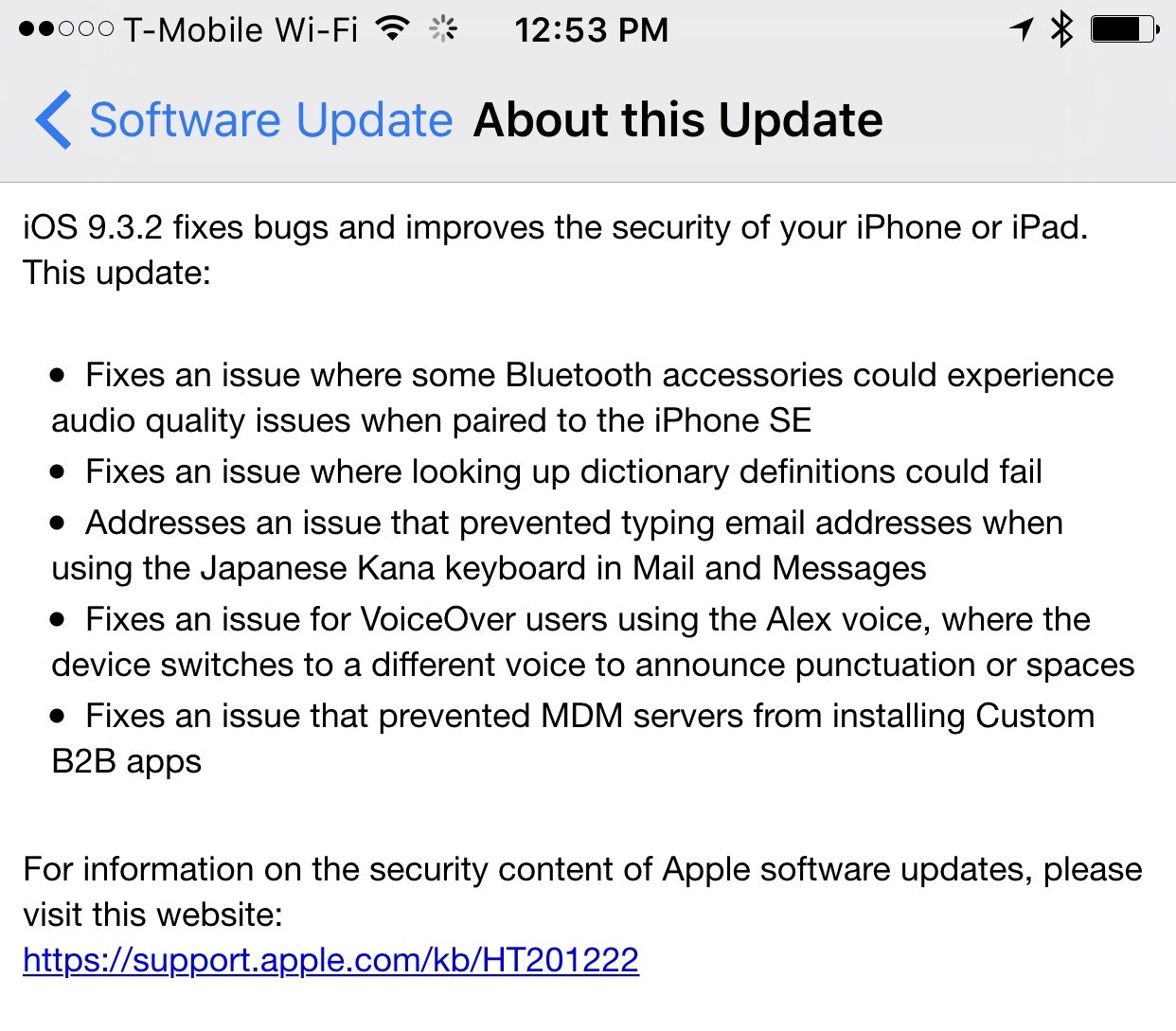 Update notes for iOS 9.3.2